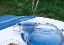 藍の青いお茶小